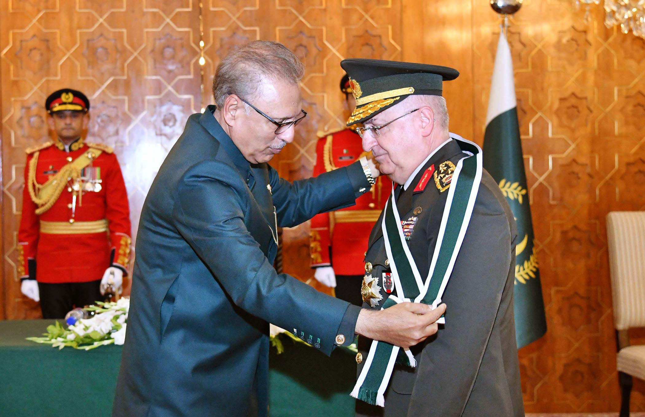 Image result for President confers 'Nishan-e-Imtiaz' on Turkish Army Chief